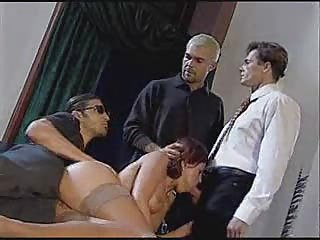 italian housewife fucking with 2 chaps infront of her spouse