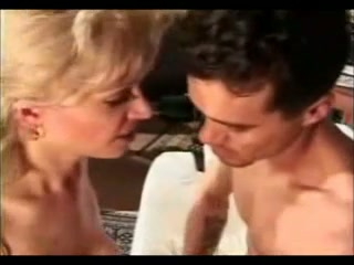 Charming vintage shemale in threesome