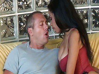 Sexy lalin angel milf eats pecker and gets gangbanged in hd