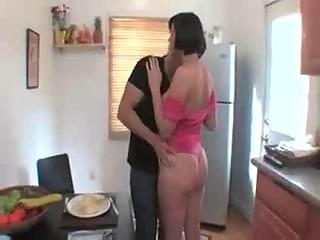 Virginal dark brown teen babe brooke lee adams seduced in kitc