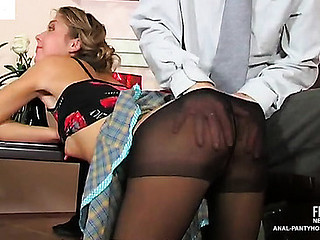 Alina&Ralph seductive anal hose clip