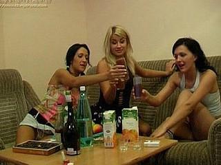 Three drunk cuties