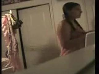 I caught my cute girl fully nude. Hidden webcam
