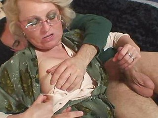 Granny acquires him excited with body