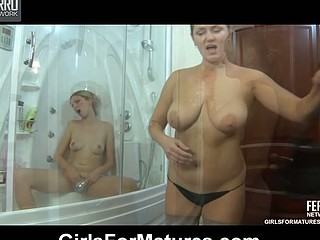 Emilia&Cecilia lezzy mamma on movie scene