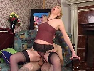 Olivia&Rudolf hot nylon action