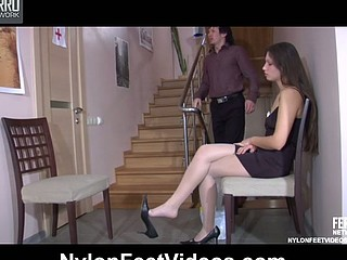 Tina&Rolf loving nylon footsex