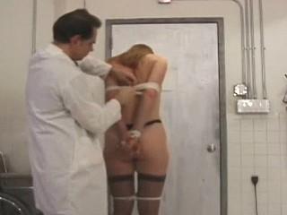 Hawt gal breasts butchered