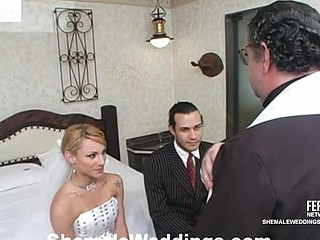 Milena horny lady-boy bride
