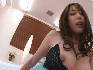 japanese milf acquires pussy licked and sucks clear dildo
