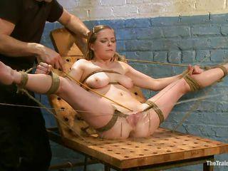 tormenting her wet slit