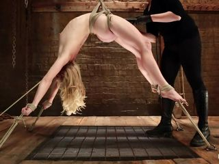 flexible golden-haired get's her cunt exploited
