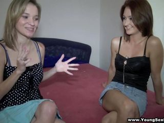 blonde mika and brunette hair angella ready for 4-way action!