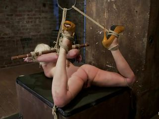 blonde slut tied and whipped hardcore