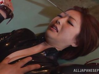 sexy japanese slut bound and fingered