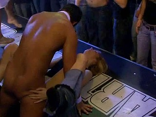 Very hawt group sex in club