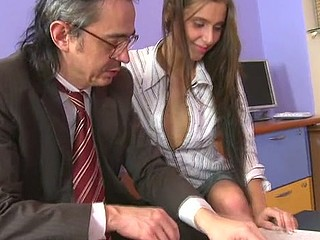 Horny teacher is pounding sweet chick senseless
