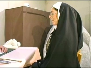 Naugthy nun receives her holes stuffed hardcore