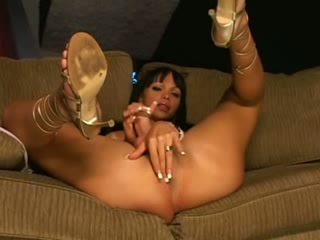 sexy TS fucked on sofa