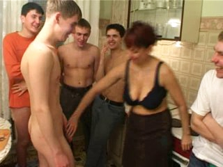 Birthday guy copulates his friend&amp,#039,s mamma with fellows