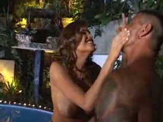 Stunning Bianca can't live out of hunk guy