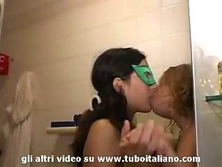Italian Pregnant girl dilettante Lesbian