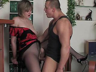 Leonora&Nicholas aged pantyhose clip