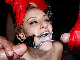 Blonde Cumslut Fucked in Dungeon!