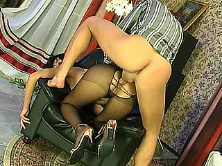 Barbara&Patrick amazing anal pantyhose movie scene