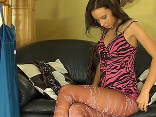 Irene in nasty hose clip scene