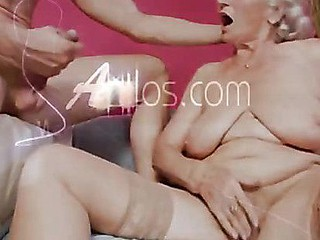 Busty grandma sucks dong and receives drilled by a juvenile chap