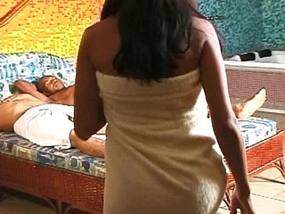 Brazilian mami gets her wet poon stretched after a shower