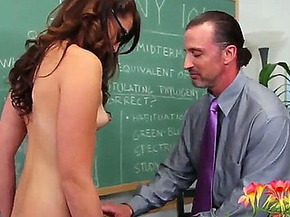 Innocent beauty Ashley Storm got tempted by her college professor Tony DeSergio and she loves this adventure