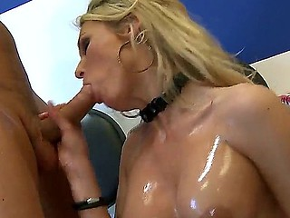Blonde milf Laura Crystal gets hard pounded by hunk Mick Blue and his hard cock