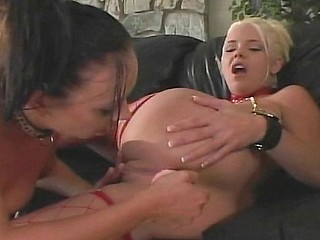 2 babes play with each other before getting a cock to fuck