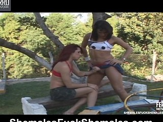 Patricia&Emily attractive lady-boys on episode scene