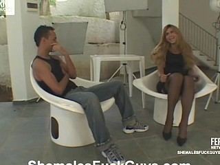Paty&Diego tgirl copulates boy act