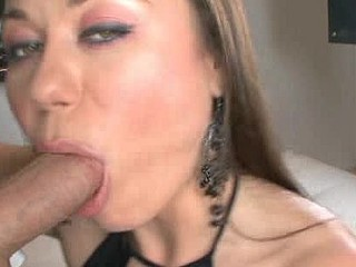 Wicked Darksome Brown Blows Dong Swallows Cum